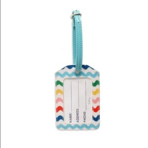 Packed party confetti luggage tag